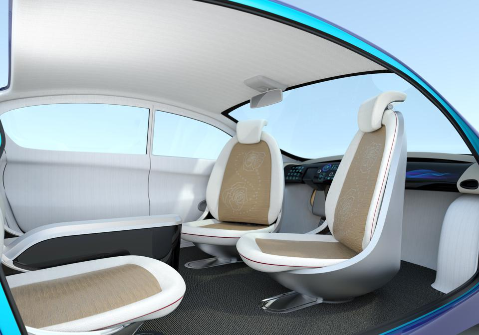 Self-driving car interior concept