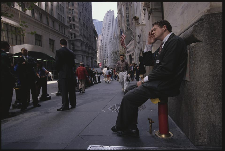 NYSE Trader Taking a Break Outside
