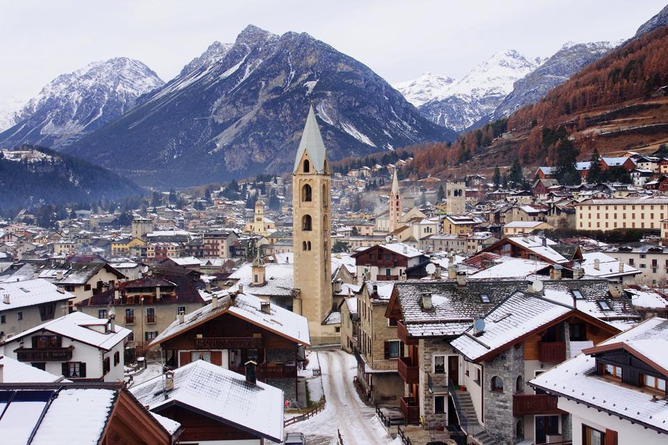 View of the vintage Bormio