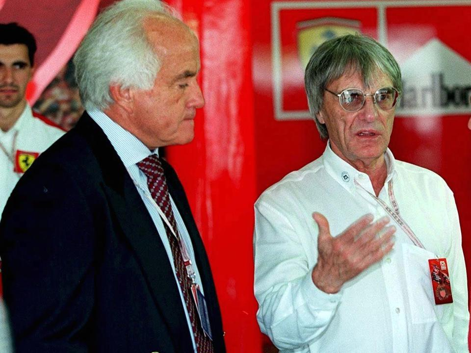 Roger Penske (left) and Bernie Ecclestone have been two of the most influential figures in auto racing (Marcus Brandt/Bongarts/Getty Images)