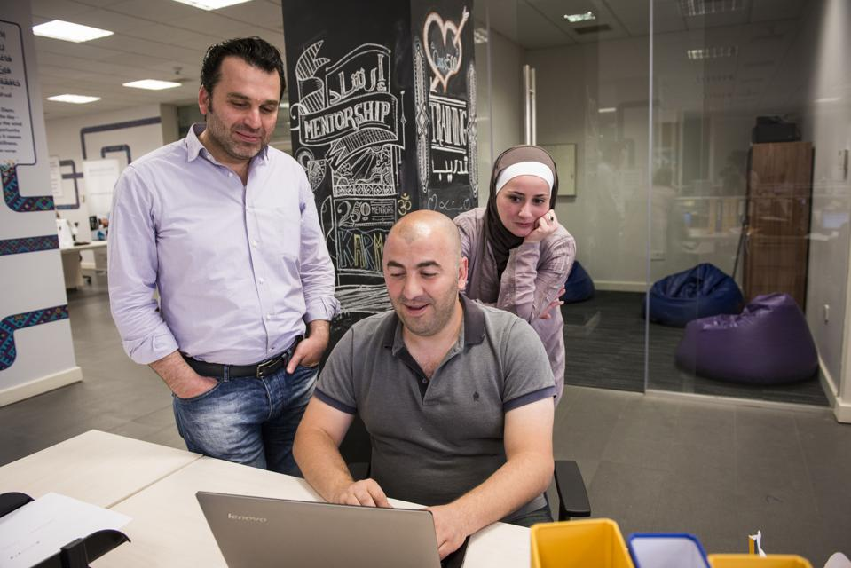 Oasis 500 is a startup incubator in Jordan, and some teams are Syrian refugees.