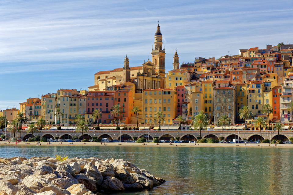 Menton, Cote d'Azur,South of France