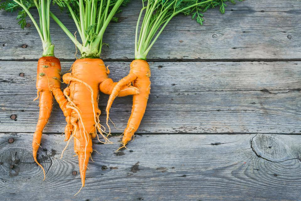 Trendy ugly organic carrot ugly produce imperfect