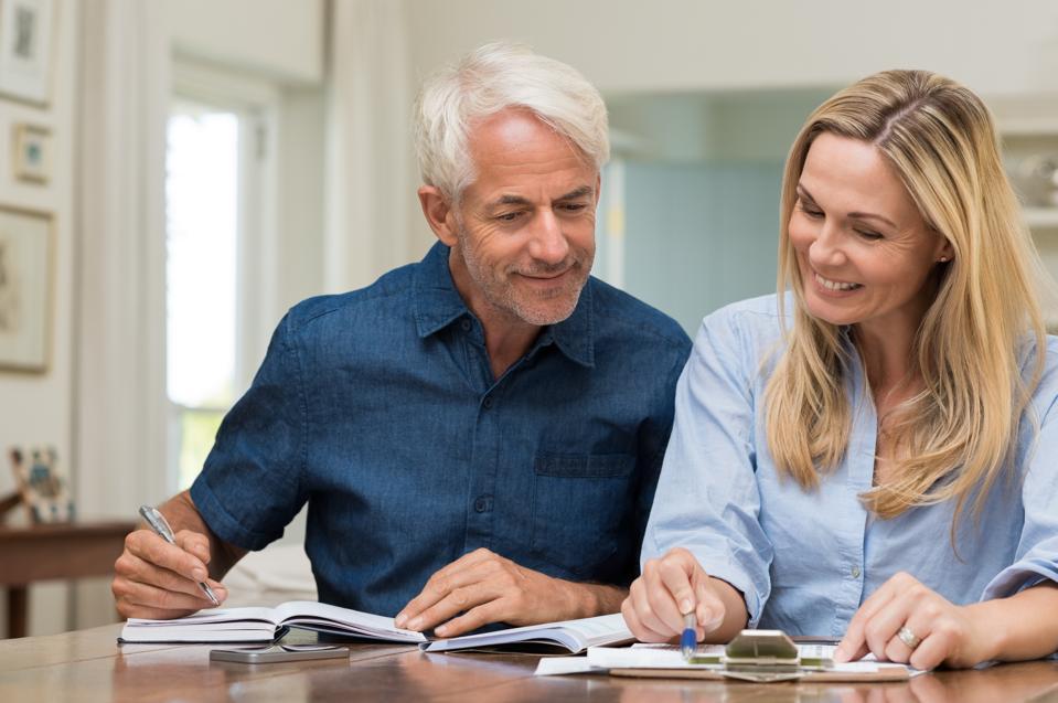Couple discussing home economics
