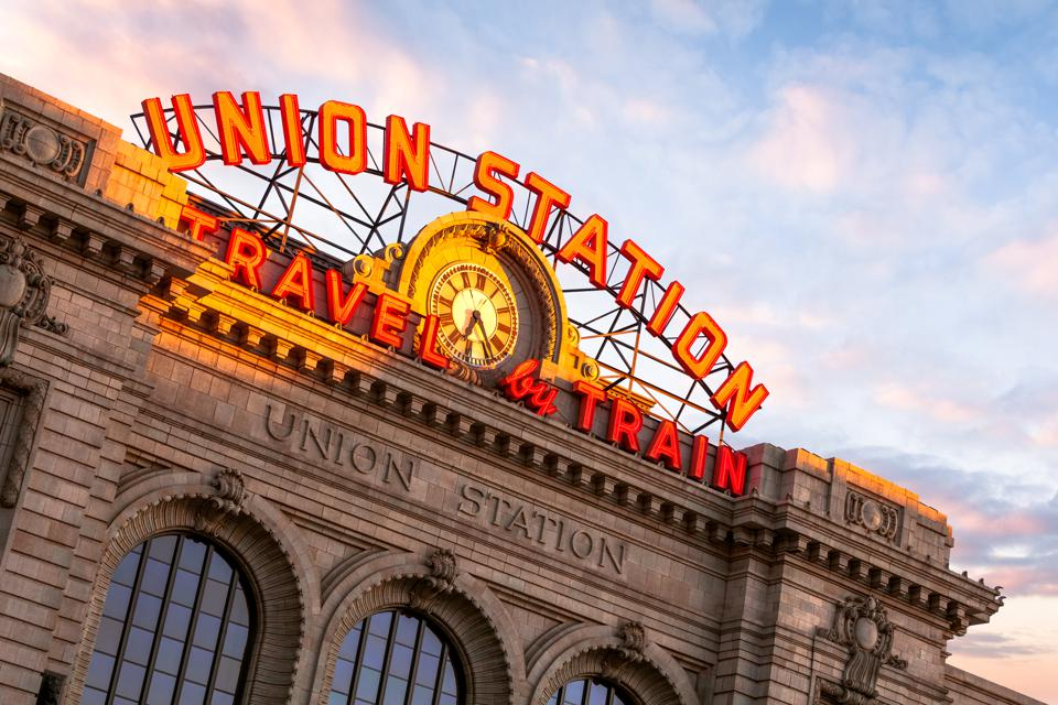 Sunrise, Union Station, Travel by Train, Denver, Colorado, America