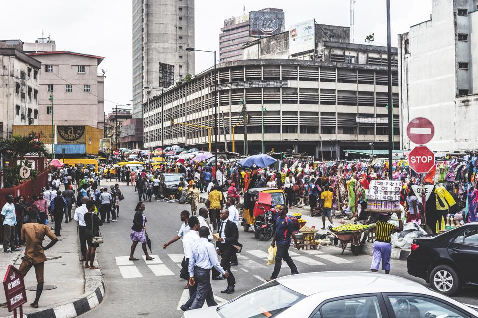 Commercial District in Lagos, Nigeria
