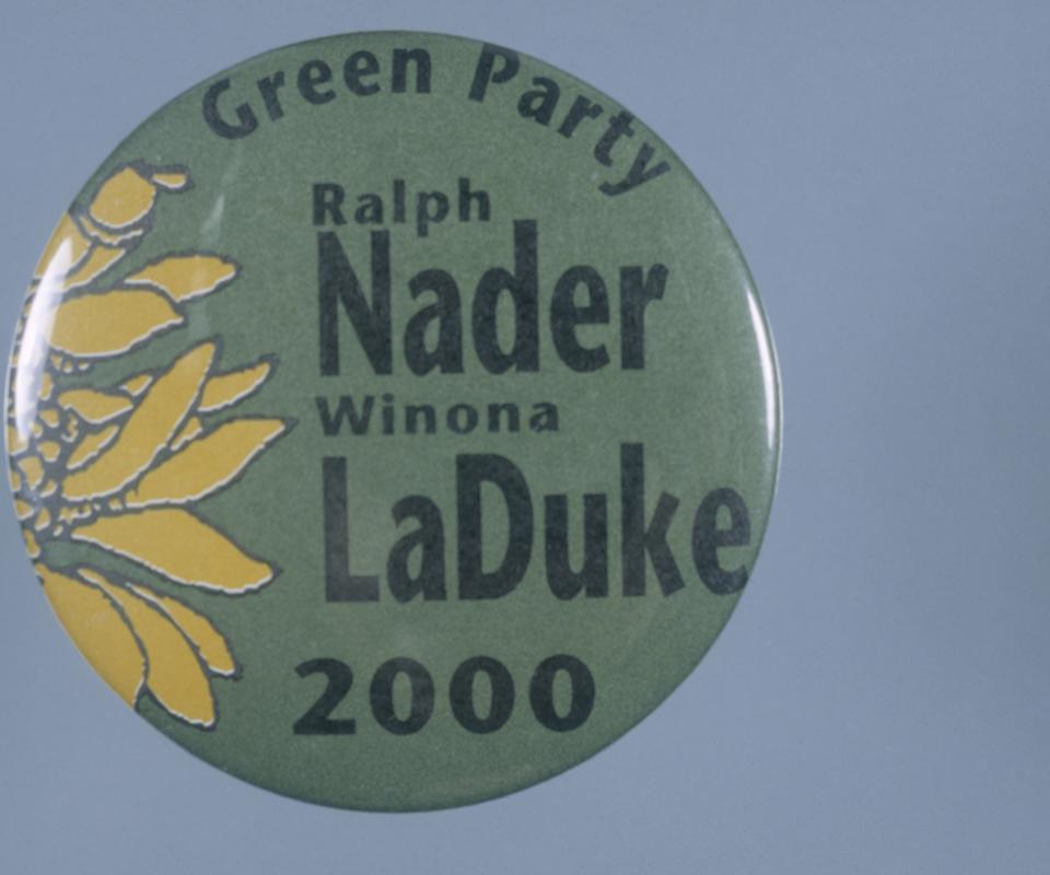 Nader LaDuke 2000 Campaign Button