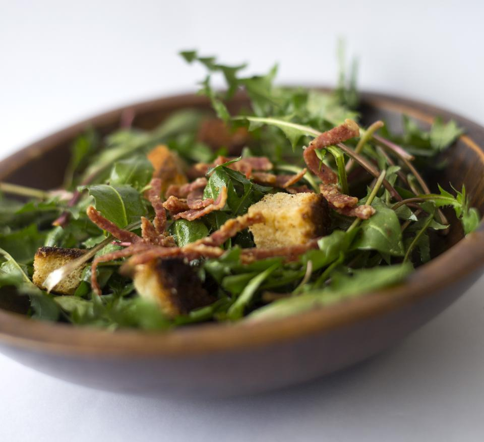 Dandelion greens salad...