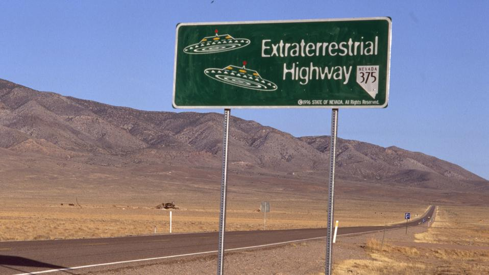 Down the road from Area 51.