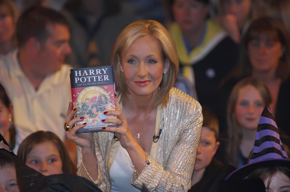 UK - Author JK Rowling presents final Harry Potter Book
