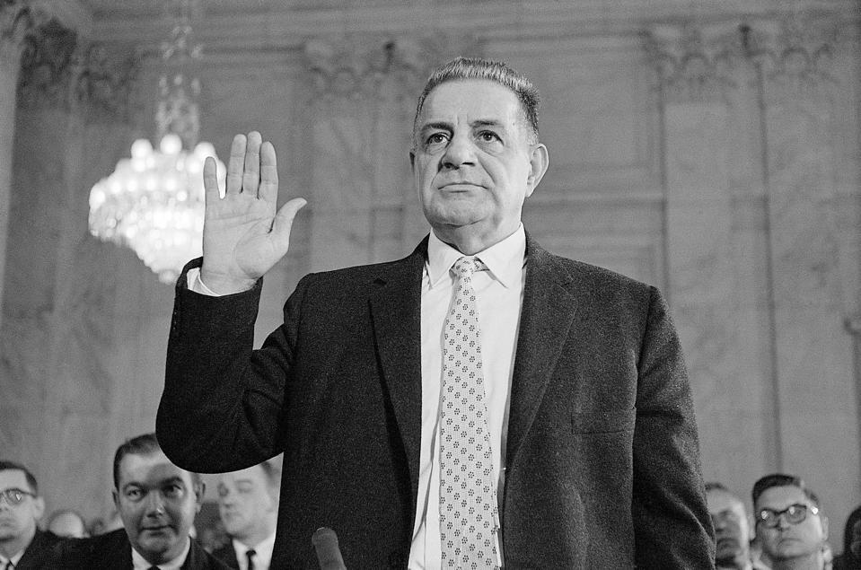 Mafia Witness Joseph Valachi Taking Oath