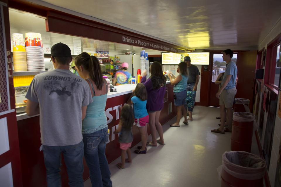 Customers at Candy Counter, Star Drive In Movie Theater, Montrose, Colorado