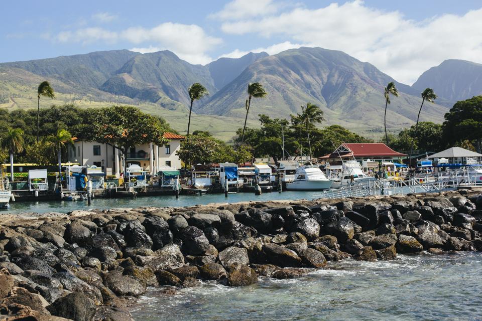 Lahaina Harbor in Maui Hawaii