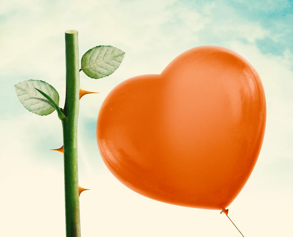 Rose thorn and Red Balloon