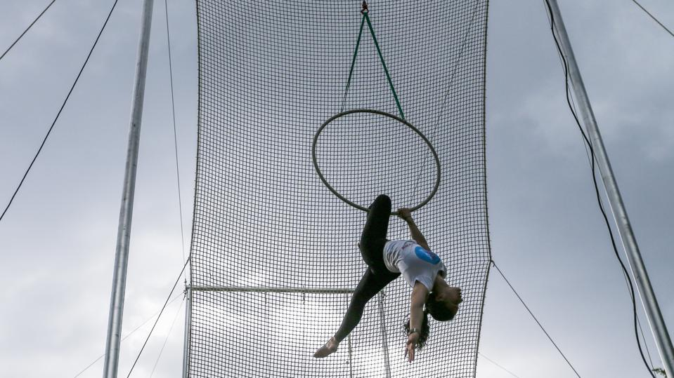 Trapeze Yota aerial gymnastics school in Moscow