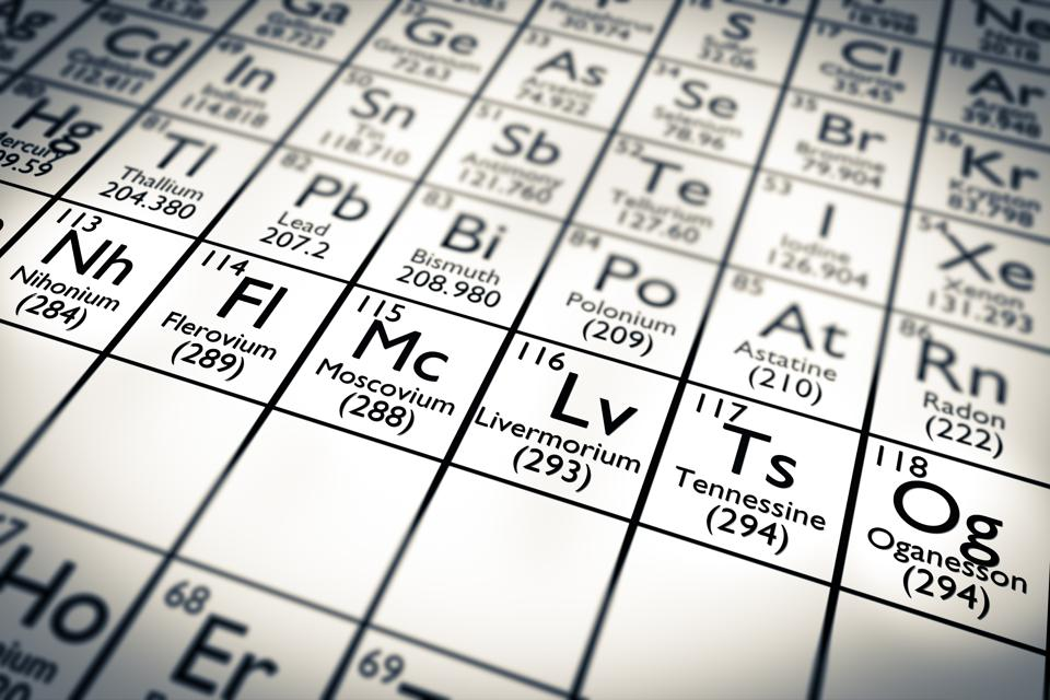Nihonium, Moscovium, Tennessine 115 Oganesson 118 - new chemical elements