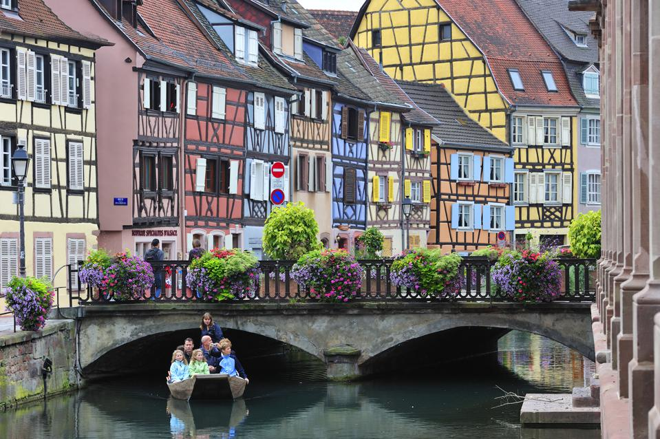 Colorful facades at Colmar, France