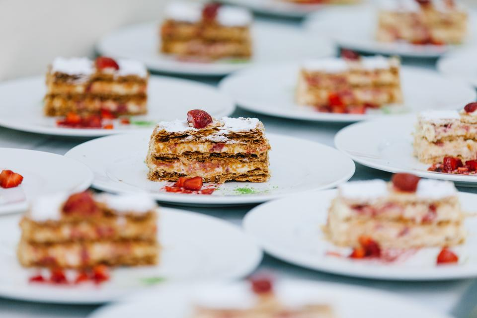 Millefeuille with strawberry
