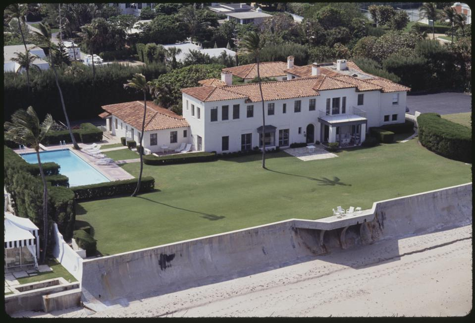 Aerial View of Palm Beach Kennedy Estate