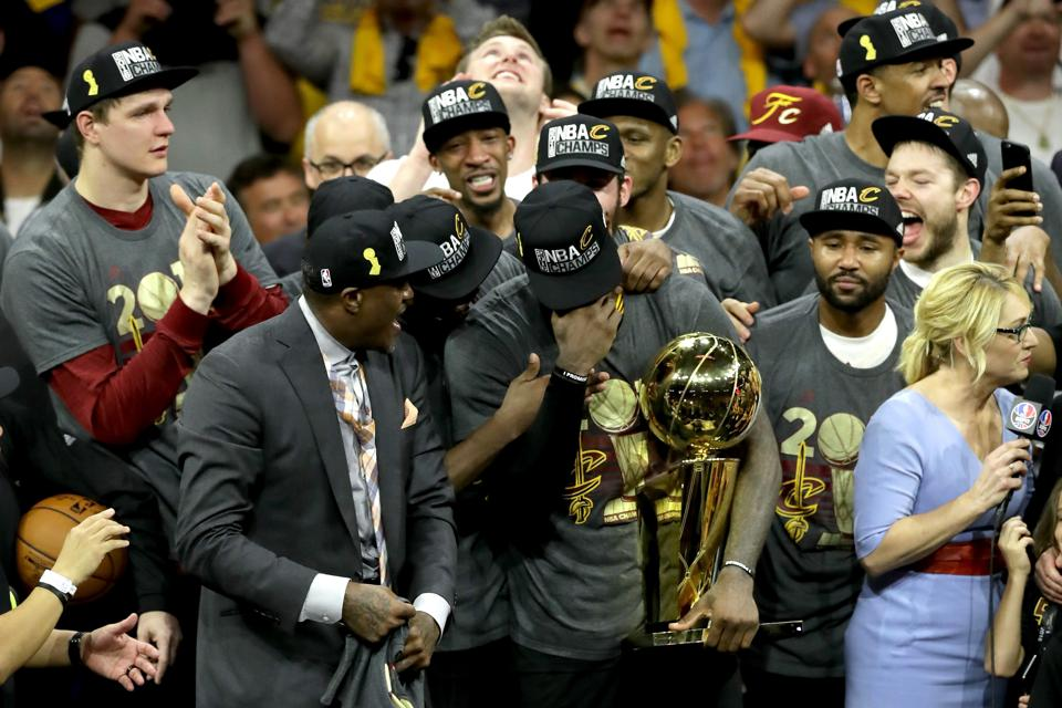 On Father's Day, A Man Who Grew Up Without One Wins A Historic NBA Championship