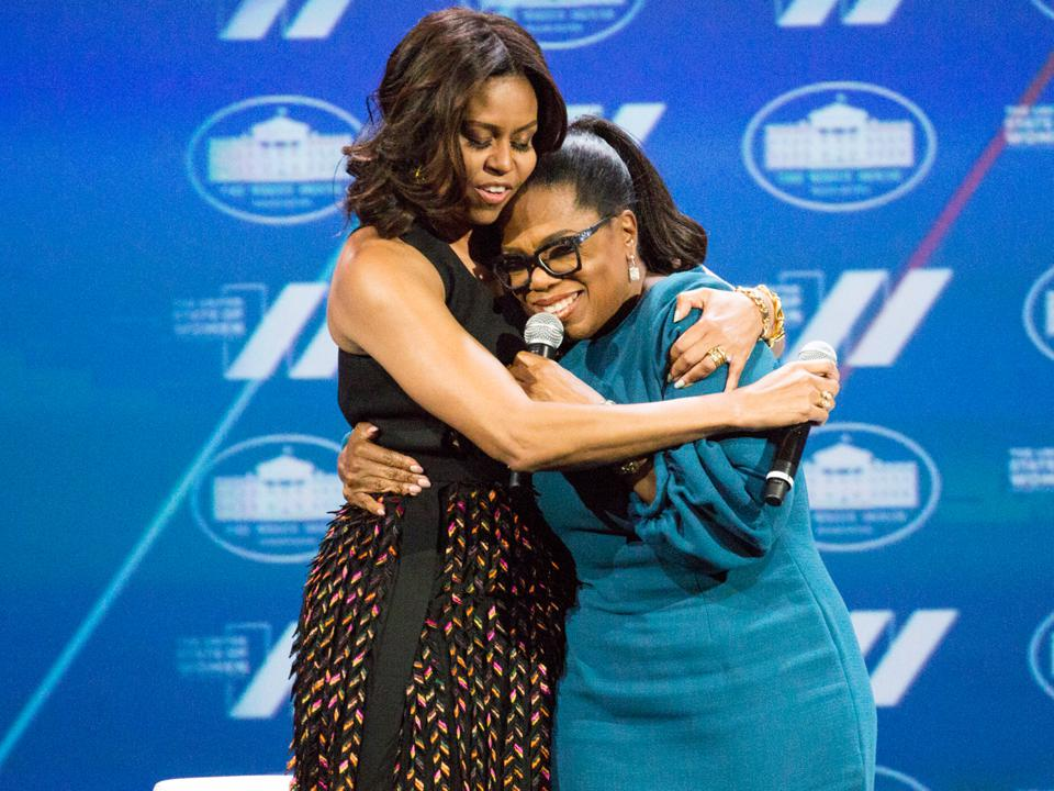 Michelle Obama, Oprah Winfrey, women, support, leadership, strong women, connection