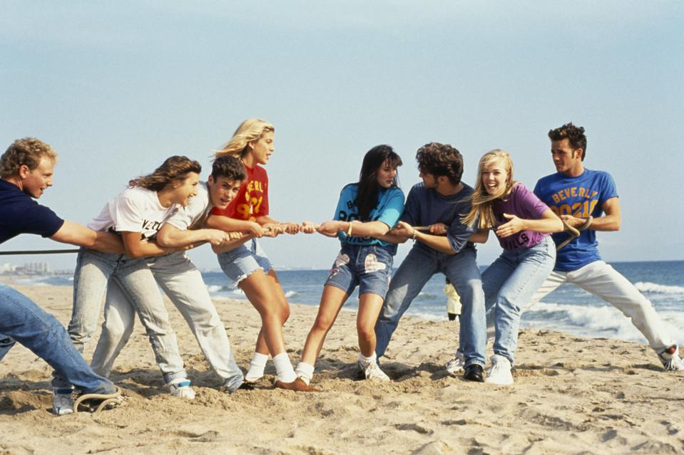 Cast of the TV Series Beverly Hills, 90210