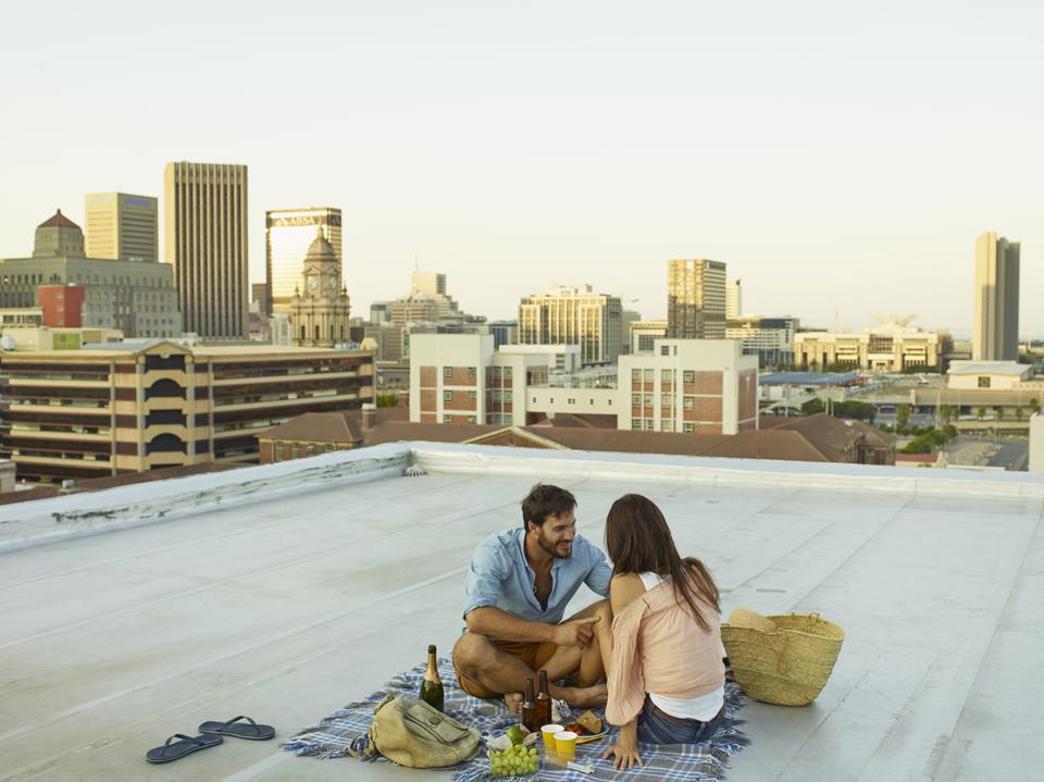 Couple on a rooftop