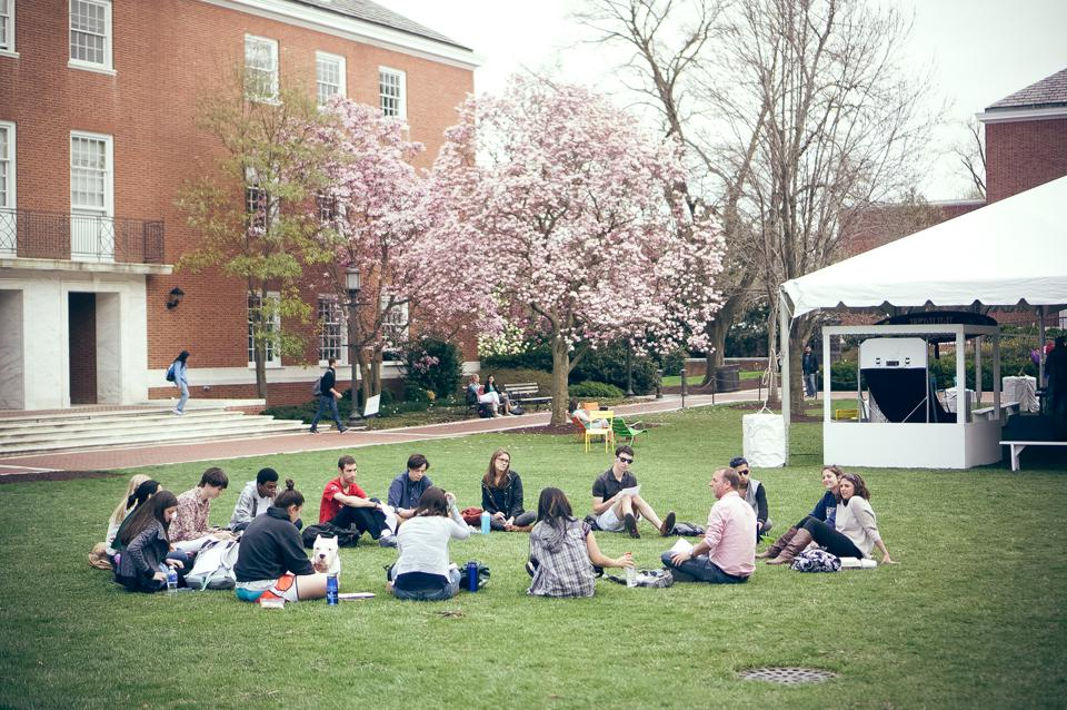 Students On Wyman Quad