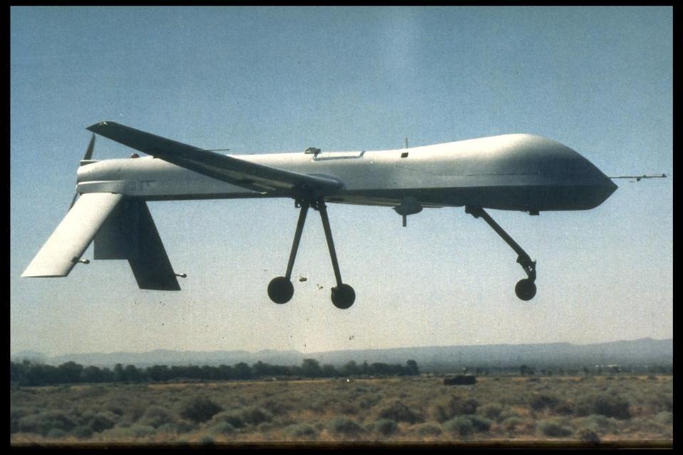 THE AMERICAN 'PREDATOR' SPY PLANE WHICH WAS SENT TO BOSNIA