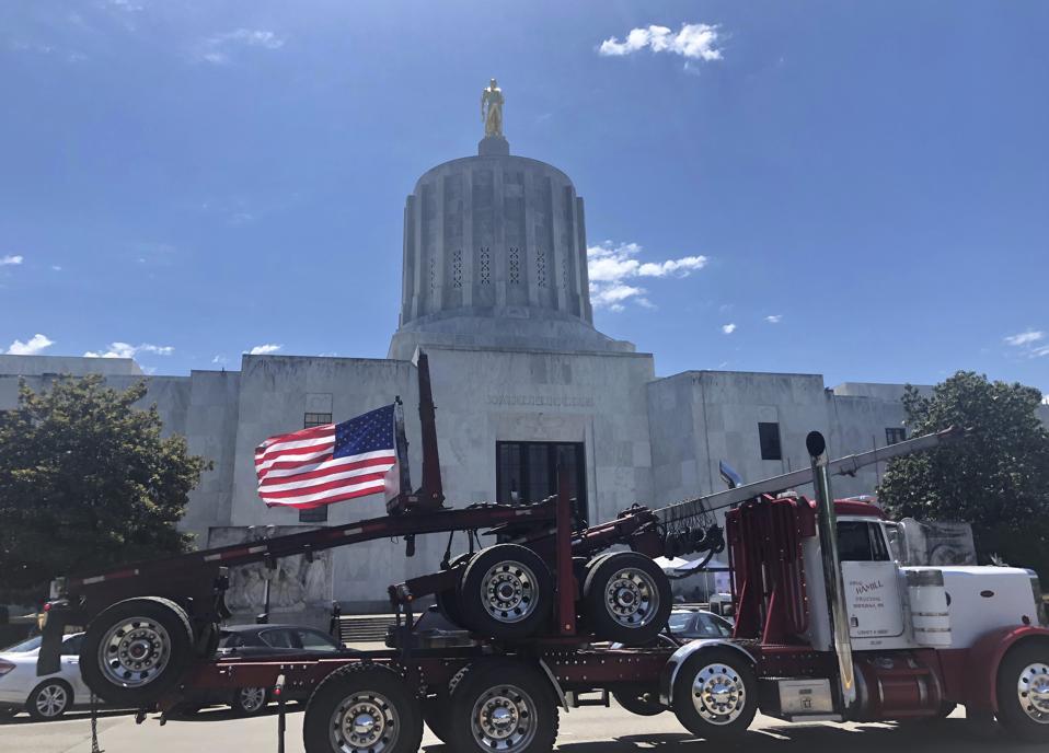 Oregon Loggers Climate Protest