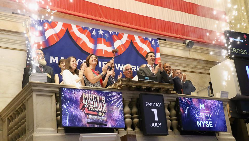 Macy's Rings The NYSE Closing Bell To Celebrate The 40th Annual Macy's 4th of July Fireworks