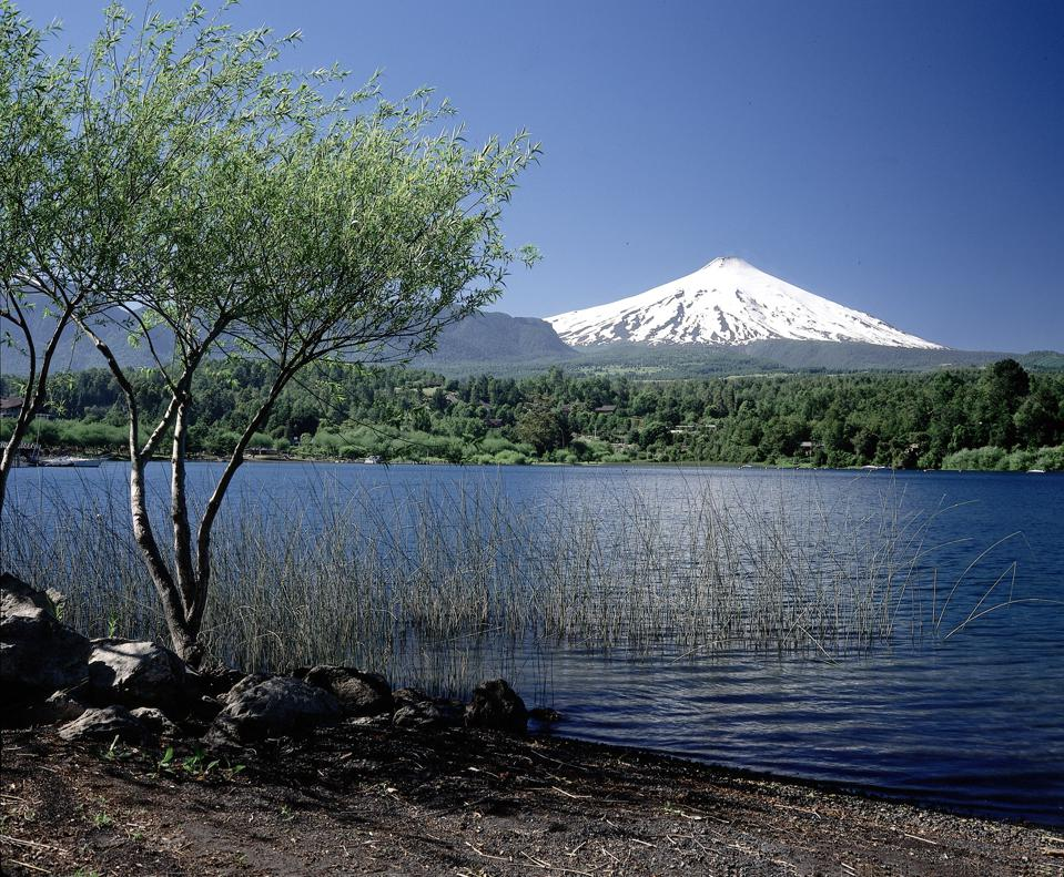 Pucon in Chile, with Villarica Volcano in the bacnground (Photo by Kanus/ullstein bild via Getty Images)