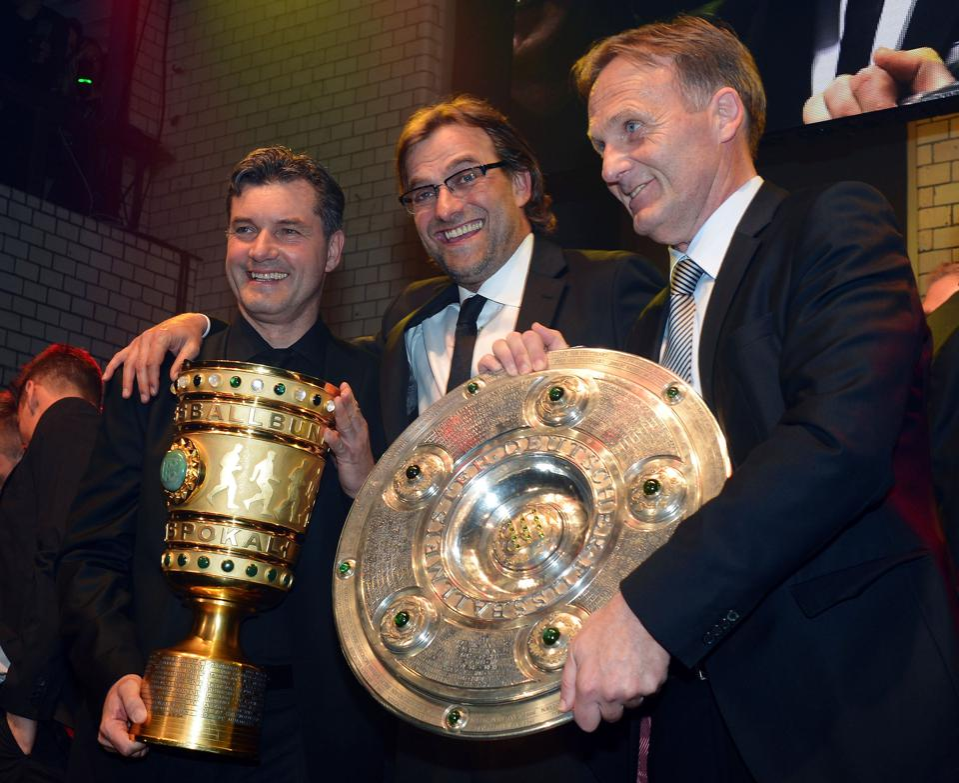 Borussia Dortmund feiert das Double 2012