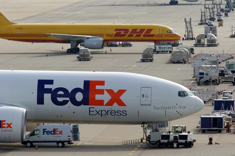 Flughafen Köln / Bonn, Flugzeuge von FedEx und DHL