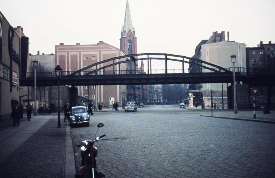 East Berlin, Schoenhauser Allee and Gethsemane Church in Prenzlauer Berg