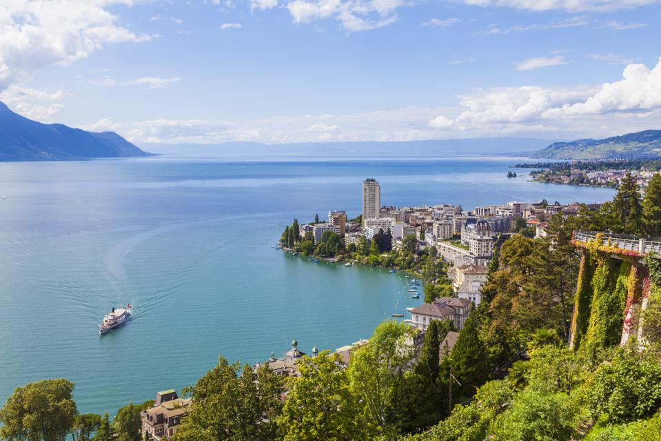 Switzerland, Lake Geneva, Montreux