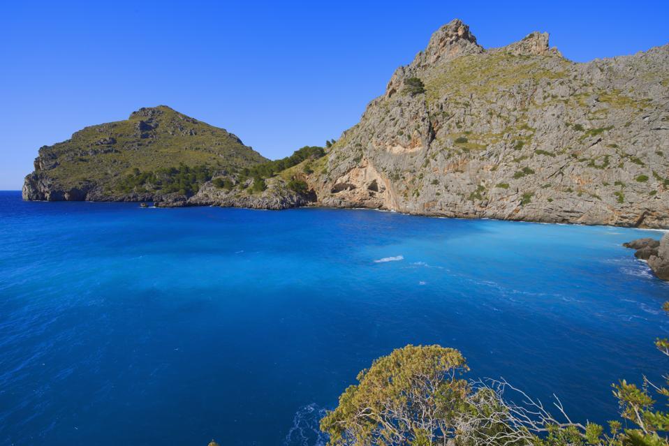 Mallorca, Sa Calobra, Escorca, La Calobra Cala, Torrent de Pareis, Serra de Tramuntana, UNESCO World Heritage Site, Mallorca Island, Majorca, Balearic Islands, Spain, Europe.