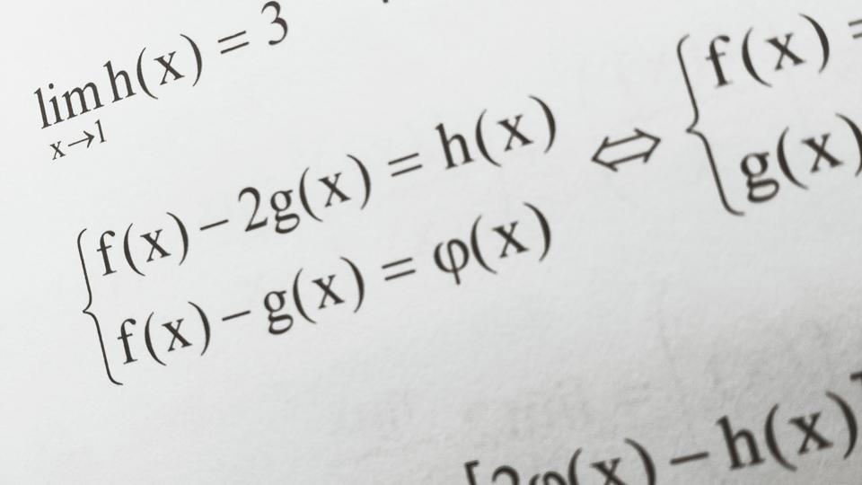 Close-Up Of Math Formula