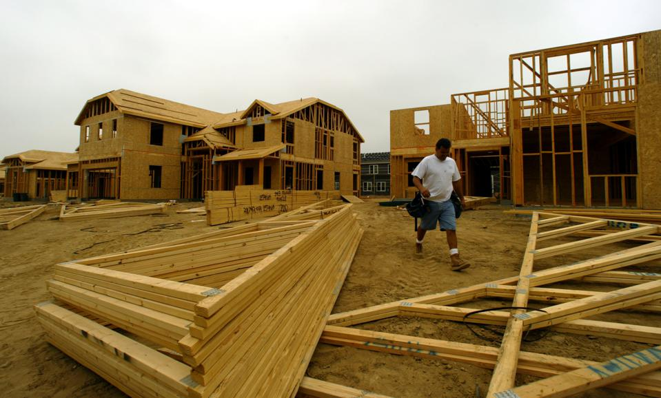 Lexington homes by KB Home underconstruction in Rancho Cucamonga. A total of 117 homes will be const