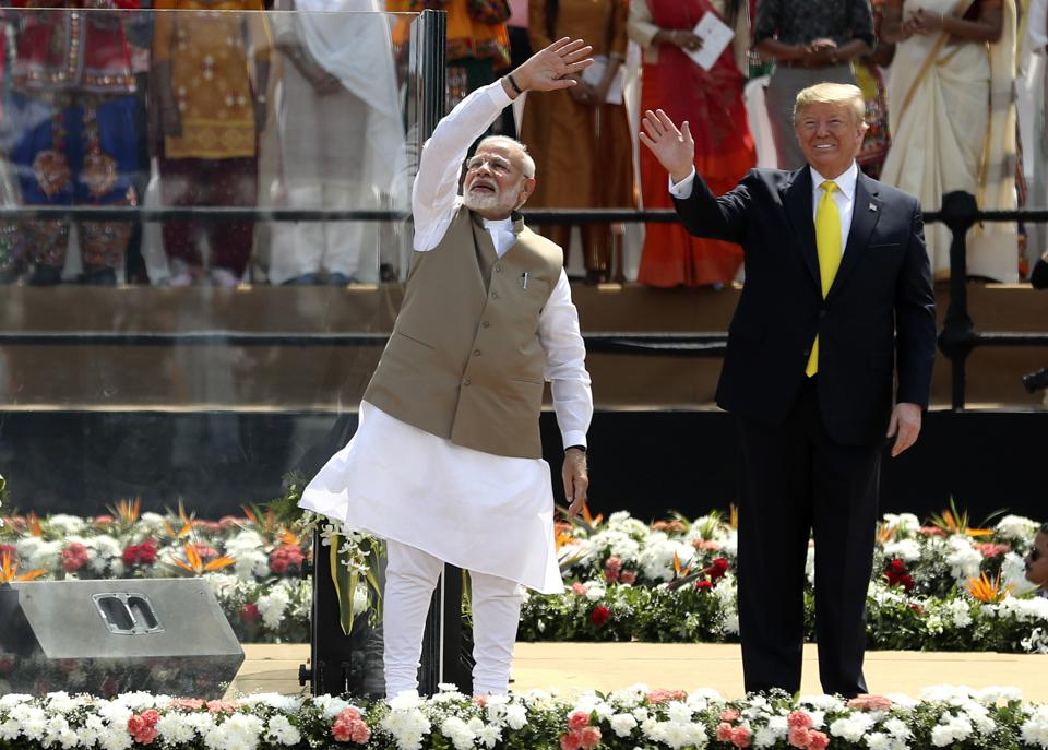 'Namaste Trump': 100,000 People Turn Out To Welcome U.S. President At Start Of India Trip