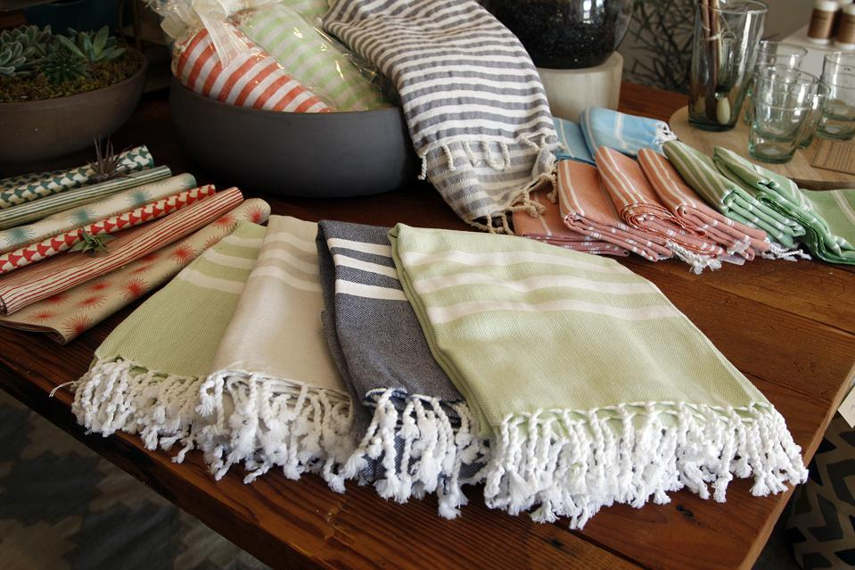 Turkish bath towel ($50) as seen at Acorn on December 31 in the Eagle Rock area of Los Angeles.