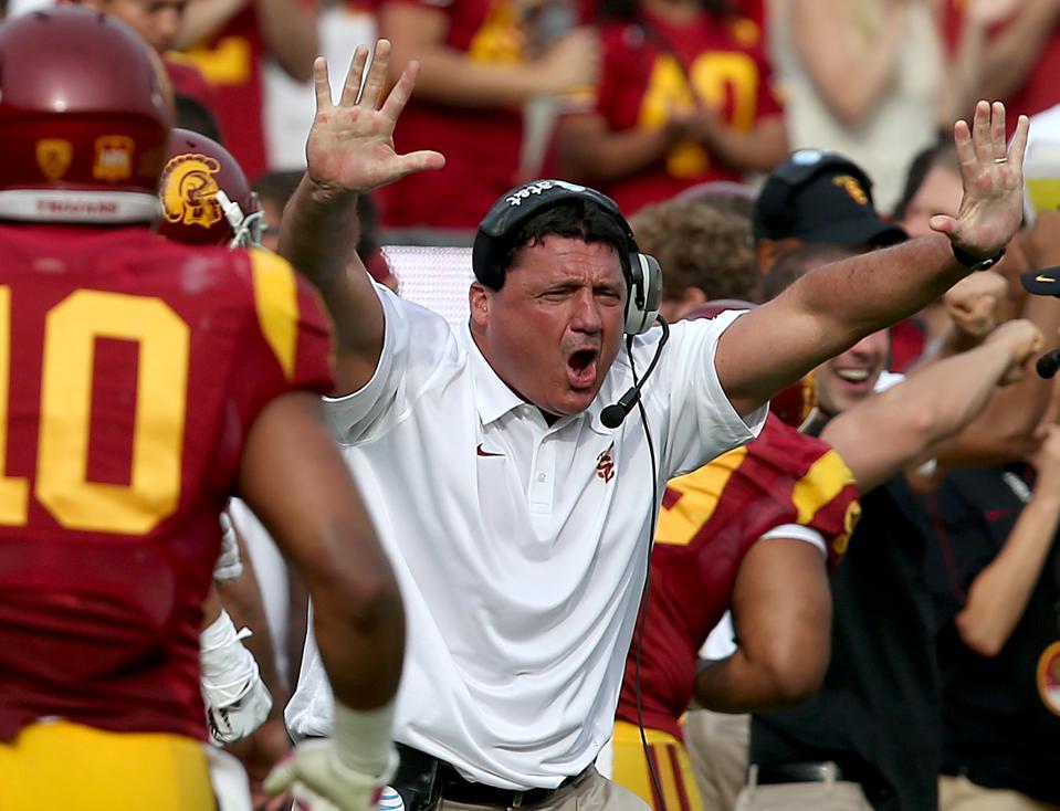 USC head coach Ed Orgeron.