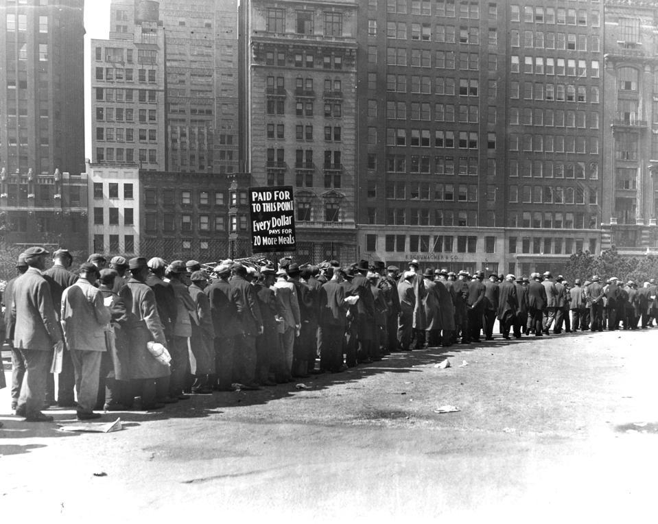 Breadline Of Unemployed