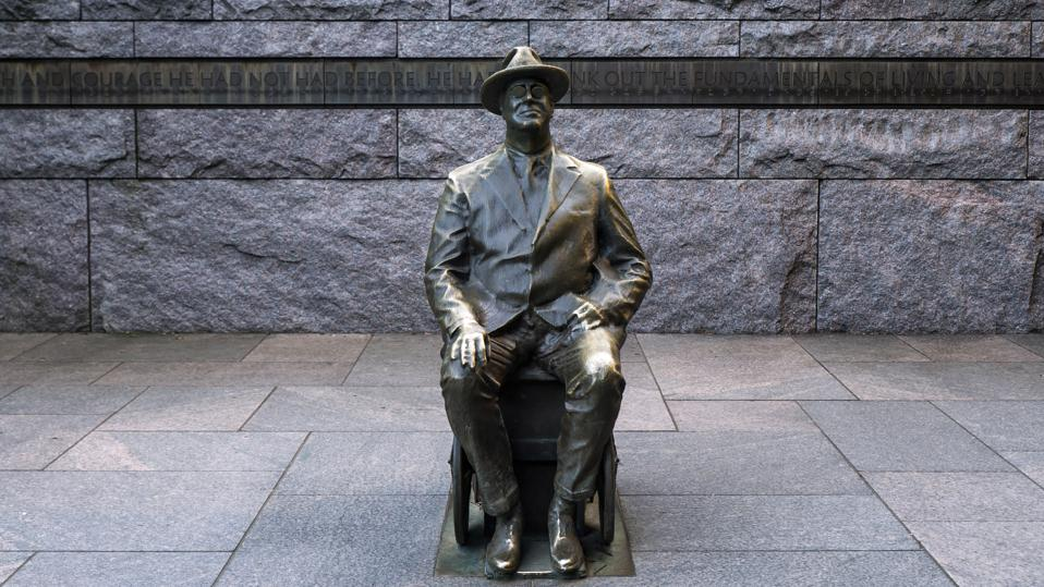 The FDR Memorial in Washington DC. (Photo by: Loop Images/Universal Images Group via Getty Images)
