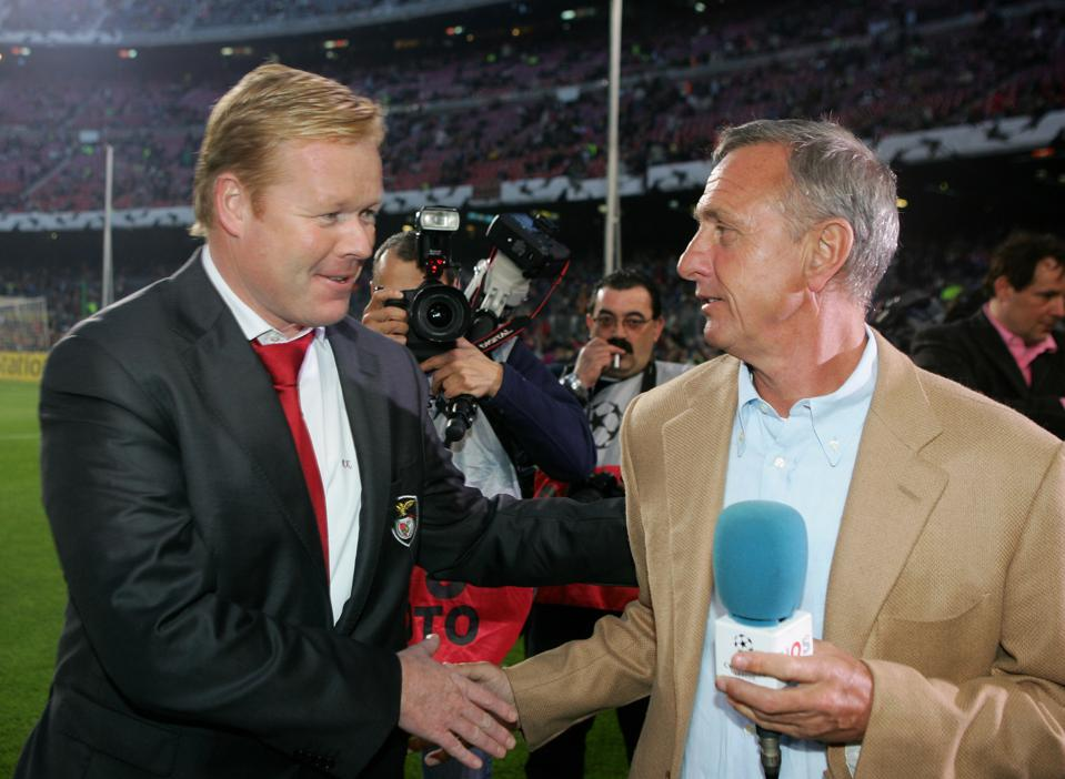 Ronald Koeman and Johann Cruyff are two of the most important figures in FC Barcelona history.