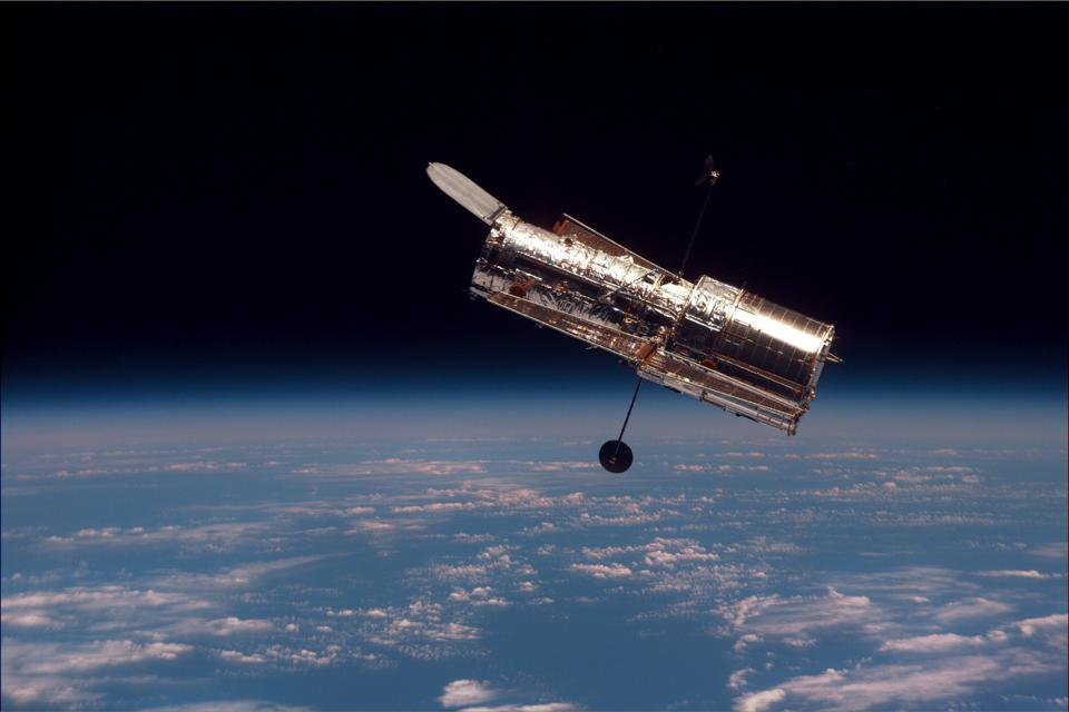 The Hubble Space Telescope, as imaged during its last and final servicing mission.