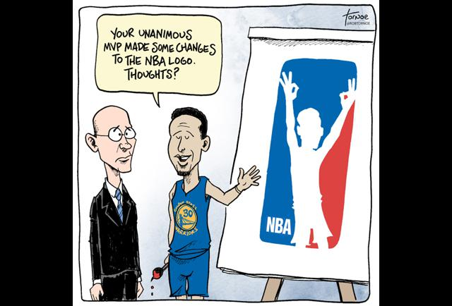 MVP Steph Curry Has Some Ideas About The NBA's Logo - pg.2