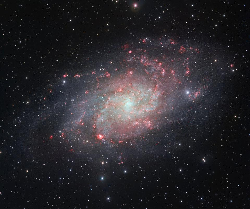 The nearby Triangulum galaxy, one of the closest spirals to us in the Universe.