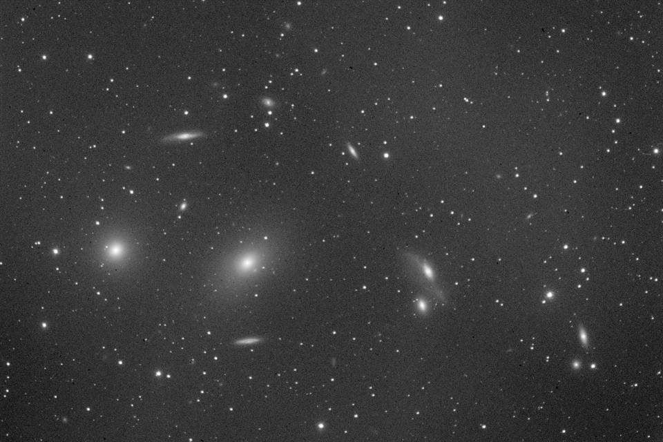 A selection of approximately 2% of the galaxies in the Virgo cluster.