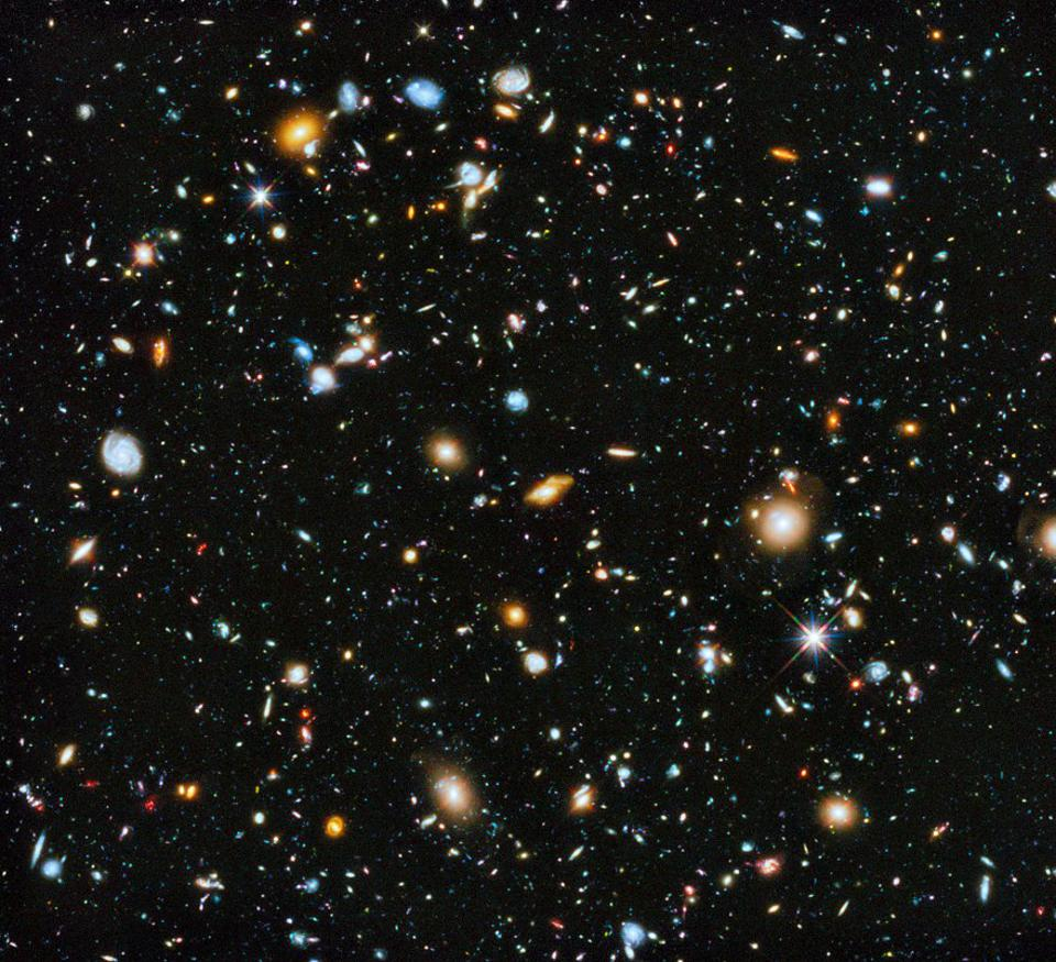 The full UV-visible-IR composite of the Hubble eXtreme Deep Field.
